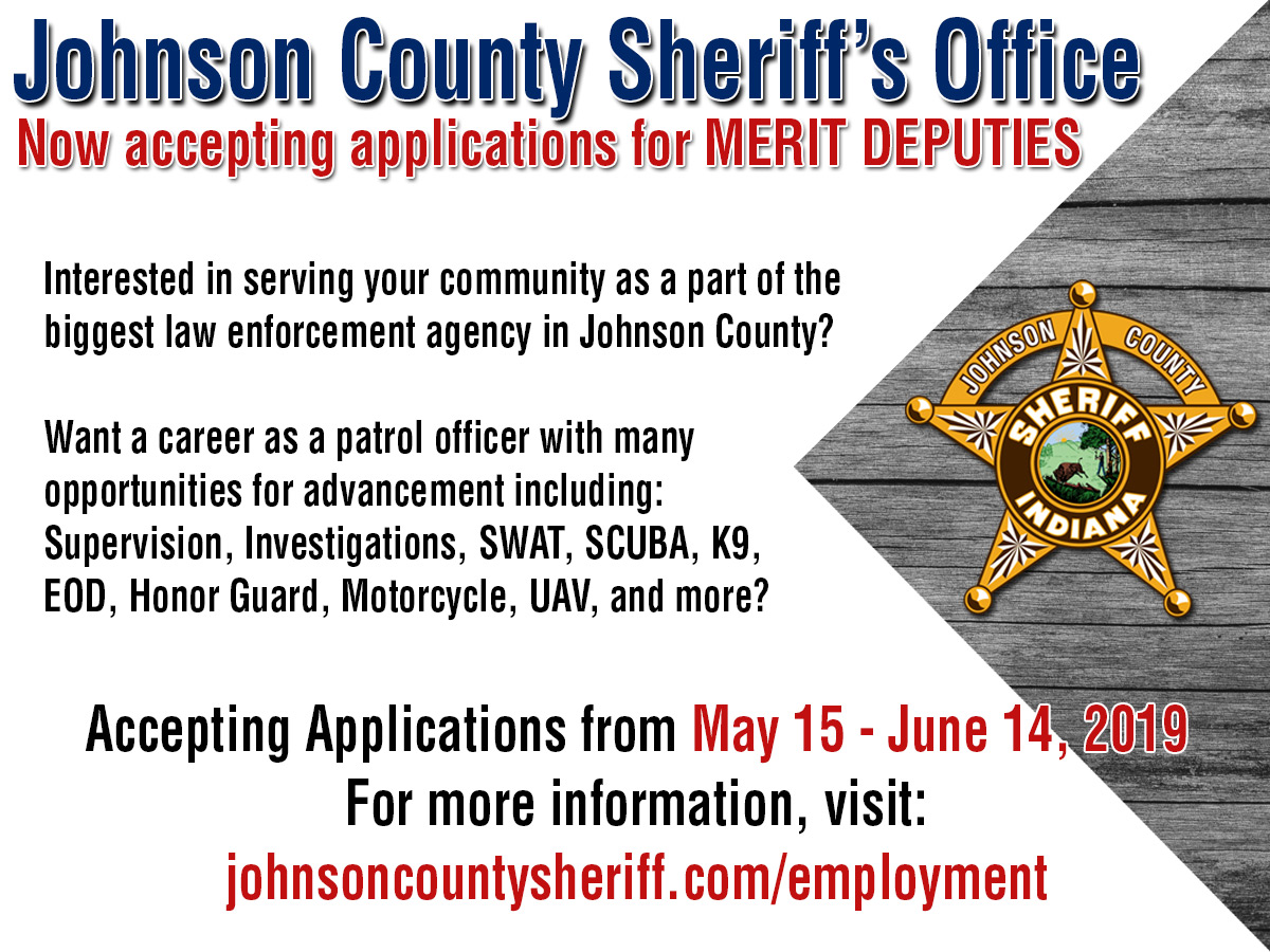 Accepting Applications for Merit Deputies
